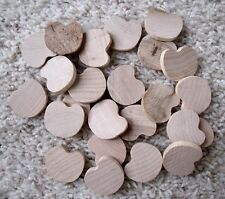24 New Unfinished Solid Wood Small Apple / Pumpkin Cutout Shapes