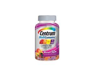 Centrum MultiGummies Women's 50+ Supports Heart, Brain, Eye & Bone Health