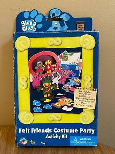 NEW Vintage Blues Clues 1998 Felt Friends Activity Kit Fifi Freddy Nick Jr Rare!