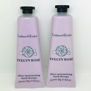 2 X Crabtree & Evelyn Evelyn Rose Hand Therapy Cream 25g