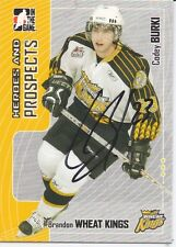 Codey Burki Brandon Wheat Kings Personally Autographed Card