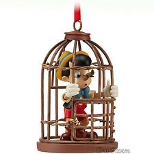 2012 Pinocchio Nose Caged Sketchbook Christmas Ornament  Disney Store BOXED NEW