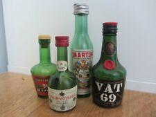 Vintage Miniature Glass Liquor Bottles Empty martini vat69 courvoisier dekuypers