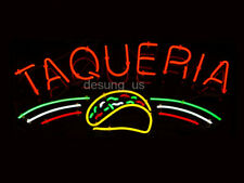 "New Taqueria Restaurant Open Bar Beer Light Neon Sign 24""x20"""