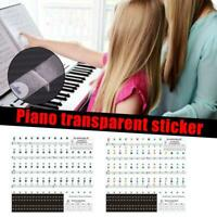 Transparent Piano Stickers Keyboard Music Note Chart Decal X8B3