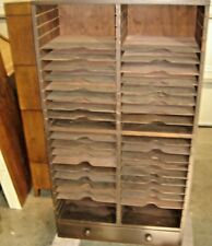 Antique Flat File Cabinet - 2 sections - poplar or Mahogany   9936