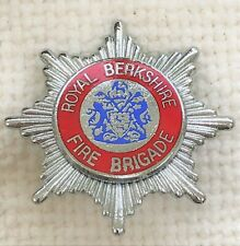 Royal Berkshire Fire Brigade cap badge.