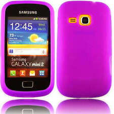Premium Purple Jelly Gel Case Cover for Samsung Galaxy Mini 2 II S6500 + Screen