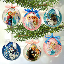 Disney FROZEN Sketchbook BALL ORNAMENT SET XMAS CHRISTMAS ELSA ANNA OLAF NEW!