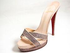 Christian Louboutin Sabot Sandal High Heel Glitter Women Size US 8 EU 38 $880