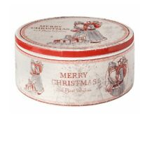 Clayre & Eef Keksdose Dolomit Weihnachten Vorratsdose Dose rot weiß 54534