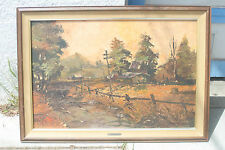 George R. James RARE Oil Painting,known for watercolor California Plein Air 1964
