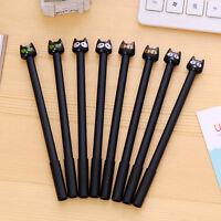 6Pcs Cute Cartoon black Cat Gel ink Pen funny School Stationery Office Supplies