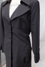 Manteau Veste JC. TRIGON - noire fines surpiqûres blanches - taille 42 - neuf