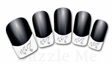 3D Nail Art Decals Transfer Stickers French Tip Design Musical Notes (3D851)