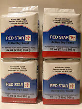 8 LB Red Star Active Dry Yeast (4 ) Vacuum Packed Bags