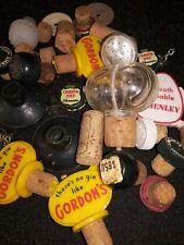 Vintage Lot Of Wine Bottle Stoppers Gordon's Schenley,Corks