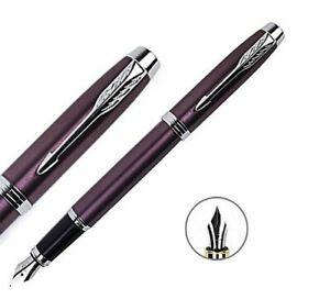 Original Parker IM Series Purple Color Fine Nib Fountain Pen