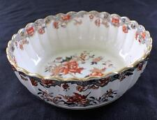 "Antq 1879-1890 W T COPELAND & SONS Earthenware VICTORIAN IMARI 9"" Bowl Glued"