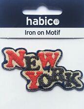 Habico New York City Logo Iron On Motif Patch Child or Adult Embellishment