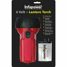 Infapower 6Volt Lantern Torch Red Water Resistant Flashlight Travel Camping