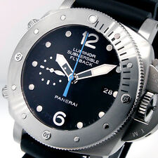 UNWORN PANERAI PAM 614 LUMINOR SUBMERSIBLE 47 mm TITANIUM 00614 CHRONO FLYBACK