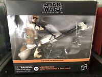 Star Wars Black Series Speeder Bike Scout Trooper The Child Mandalorian In Hand
