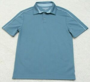 Great Northwest Blue Polo Shirt Short Sleeve Size Small Man's Solid Polyester