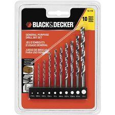 BLACK+DECKER 10-Piece Drill Set 15-110