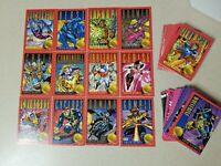 1993 X-MEN SERIES 2 COMPLETE TRADING CARD BASE SET Skybox 100 Card Set