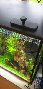 34L aquarium feeding hole cover. lid. BLACK. Compatible with  Fluval Flex