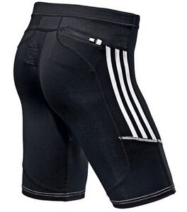 Adidas Response Short Tight Herren Profi Laufhose Run Training Hose schwarz/weiß