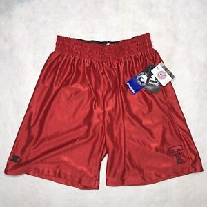 Starter Team Mens Texas Tech Reversible Basketball Shorts Black Red Medium