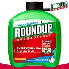 Roundup Unkrautfrei 5L AC Fertigmischung Glyphosatfrei Bekämpfung Beet Garten