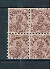 India King George v 1911 Block of Four Unmounted Mint Stamps