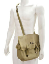 U.S. WW2 M1936 Musette Bag with Shoulder strap Lt OD marked JT&L 1943