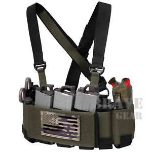 Tactical 5.56 Ready Rig Chest Rig Elastic Cummerbund Concealed Lightweight Vest
