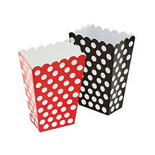 30 - Gothic 'Black & Red' - Polka Dot Treatboxes with 30 Cellophane Bags.