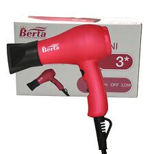 Berta 1000W Mini Hair Dryer Ions Ceramic Hair Blow Dryer for Travel US plug