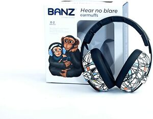 BABY BANZ NEW White Ear Muffs Mini Defenders Sticks and stones  BNWT
