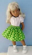 BJB Vintage Sasha doll clothes Pretty green spotty skirt + white blouse