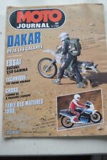 MOTO JOURNAL N° 731 PARIS-DAKAR SUZUKI RG 250 GAMMA JEAN-LOUIS TOURNADRE 1986