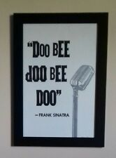 REBECCA PETERS - FRANK SINATRA. SIGNED. LIMITED TO 10. 2013. LETTERPRESS. USA.