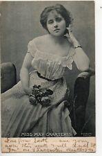 70278 Orig 1903 litho PC British Theatre Actress Miss May Charteris summer dress