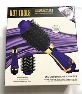 Hot Tools One Step Blowout Hair Volumizer, 1 Handle & 1 Volumizer Head, Purple