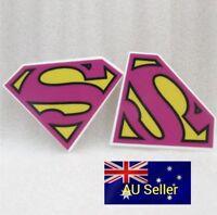Plastic Flatback Planar Resin Embellishment - Pink Super S - 5 Pack - for DIY