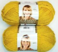 "Lion Brand VANNA'S CHOICE Yarn ""Mustard"" Lot of 2 New Skeins 170 yds/3.5 oz each"
