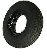 "8-14.5 Homaster ""donut"" Trailer Wheel & Tire assembly Load Range G  Black Rim"
