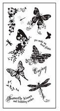 FISKARS Clear Acrylic Stamps BUTTERFLY MAGIC
