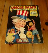 1936 Uncle Sam's Big Coloring Book Rand McNally & Company